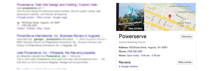 Powerserves Google Places
